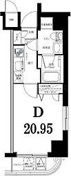 グリフィン横浜・グランビスタ[4階]の間取り