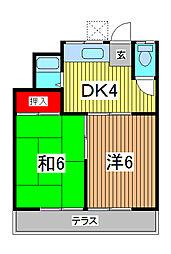 コーポ柳崎[102号室]の間取り