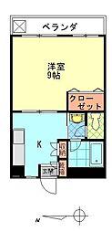 第2ナガイビル[203号室]の間取り