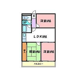 シャトー第1土山[2階]の間取り