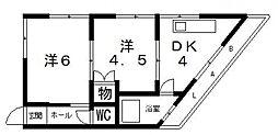 TAIHO八尾駅前マンション[201号室号室]の間取り