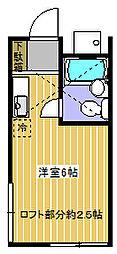 神奈川県相模原市中央区千代田4丁目の賃貸アパートの間取り