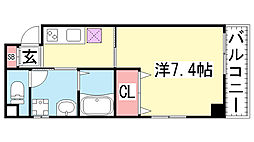 レガーロ春日野道駅前[202号室]の間取り