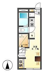 レオパレスウィング4[2階]の間取り