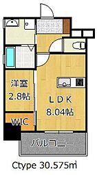 THE HILLS KOKURA[7階]の間取り
