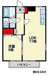 ファミール清和[2階]の間取り