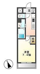 レーベスト平安[5階]の間取り