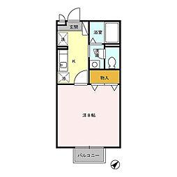 セジュールSE[1階]の間取り