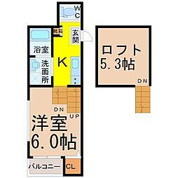 メゾンプラージュ[1階]の間取り