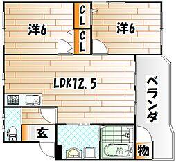 清田ガーデンハウス[3階]の間取り