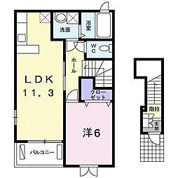 東京都練馬区下石神井6丁目の賃貸アパートの間取り