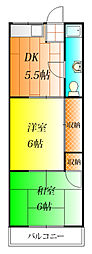沢田ハイツ[1階]の間取り