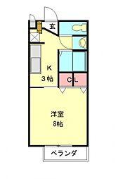 愛知県江南市高屋町花戸の賃貸アパートの間取り