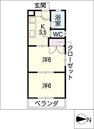 みつわシティマンション[3階]の間取り