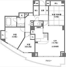 スカイシティ豊洲ベイサイドタワー[6階]の間取り