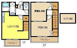 [テラスハウス] 愛知県名古屋市天白区植田東3丁目 の賃貸【/】の間取り