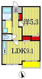 フローリッシュ津田沼II[3階]の間取り