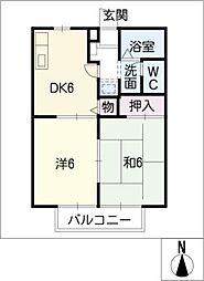 セレナード・F[2階]の間取り