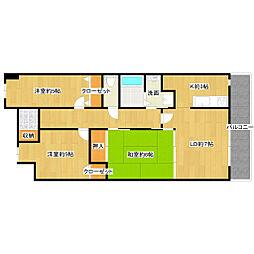 新潟県新潟市西区五十嵐東3丁目の賃貸マンションの間取り