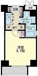 東京都江東区永代1丁目の賃貸マンションの間取り