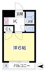 サクセスシティ3階Fの間取り画像