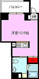 JPレジデンス京橋EAST 6階1Kの間取り