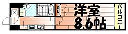 No.65 クロッシングタワーORIENT BLD.[2階]の間取り