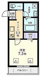 ラフィネSHOUEIII[3階]の間取り