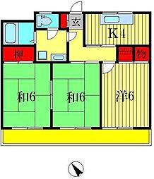 キャビン88[2階]の間取り
