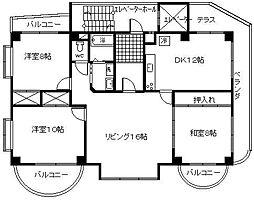 サンケイマンション第5ビル[301号室]の間取り