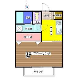 メゾン・ド・タキ[102号室]の間取り