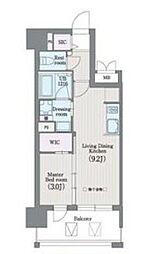ラクレイス平尾山荘通り 2階1LDKの間取り