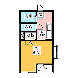 井上第3マンション[3階]の間取り