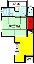 白芳荘[2階]の間取り