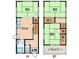 [一戸建] 和歌山県和歌山市六十谷 の賃貸【/】の間取り