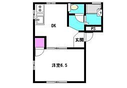 グリーンビュー・一の坪A[2階]の間取り