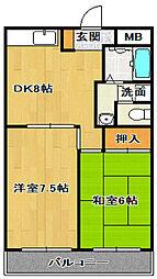 かなめコーポ[2階]の間取り