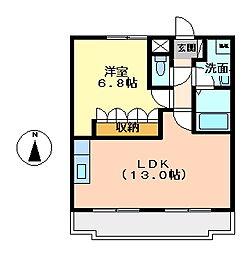 エルアールB[1階]の間取り