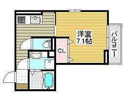 VILLA北花田[1階]の間取り