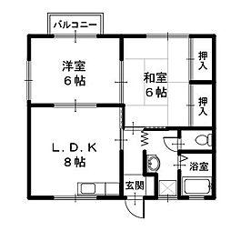豊岡市野上 ひまわりかん(2)[2階]の間取り