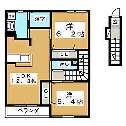 LIFE CUBE1[2階]の間取り