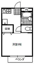 千葉ハイツII[102号室]の間取り