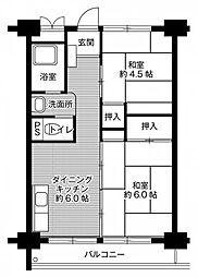 ビレッジハウス南清水タワー[0514号室号室]の間取り