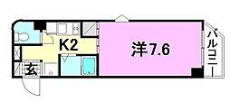 メゾンド安城寺2[408 号室号室]の間取り