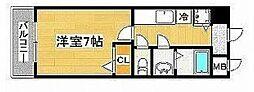 シャルマンフジ心斎橋東[9階]の間取り