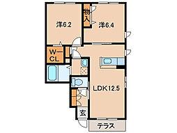 シャーメゾン浜の宮[1階]の間取り