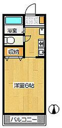 愛知県あま市西今宿山伏三の賃貸アパートの間取り