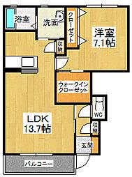 Graceful KAWAUCHI 2[102号室]の間取り