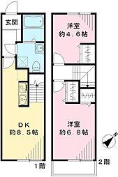 パインホーム[102号室号室]の間取り