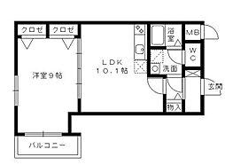 エース五番館[6階]の間取り